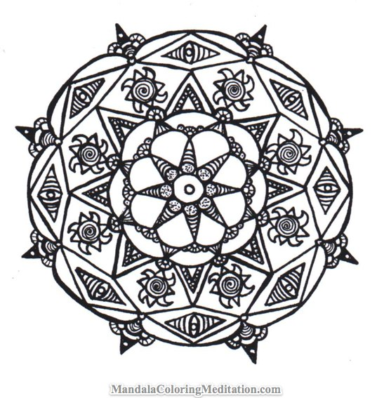 Another Printable Mandala Coloring Page All Ages