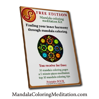 The Free Mandala Coloring Pages Meditation Kit