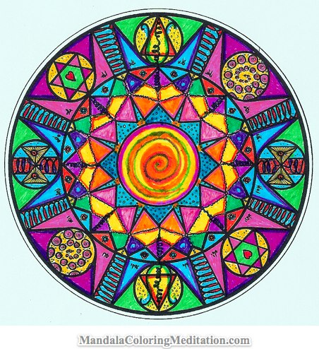 Mandala Coloring Pages on Adult Mandala Coloring Page