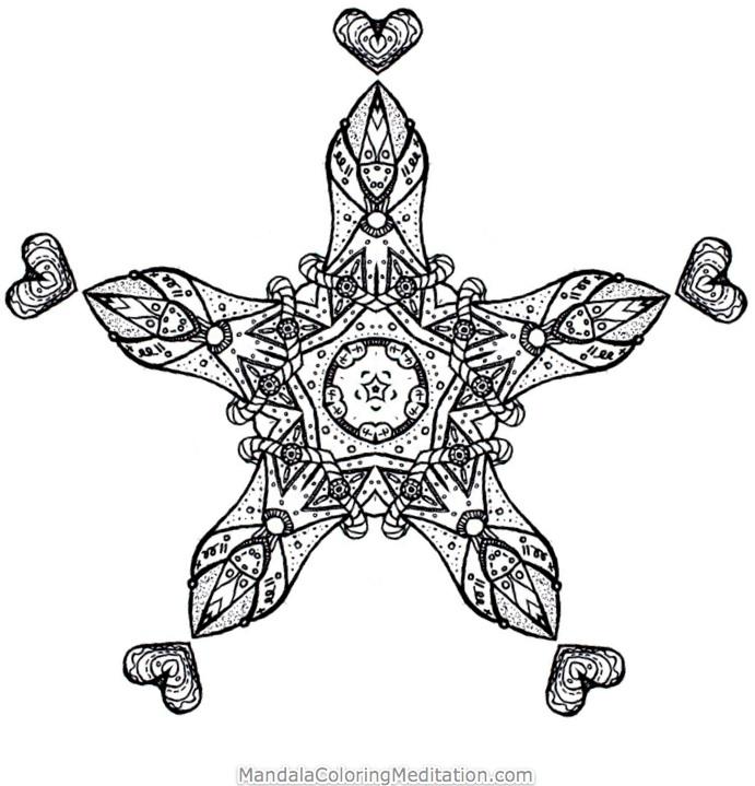 adult mandala coloring page 1 - Free Adult P