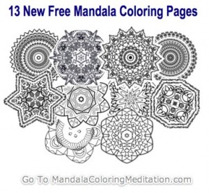 New Free Adult Mandala Coloring Pages
