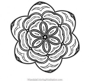 Another free mandala coloring page by Steven Vrancken