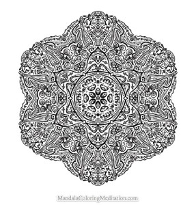 save advanced mandala coloring page - Advanced Mandala Coloring Pages