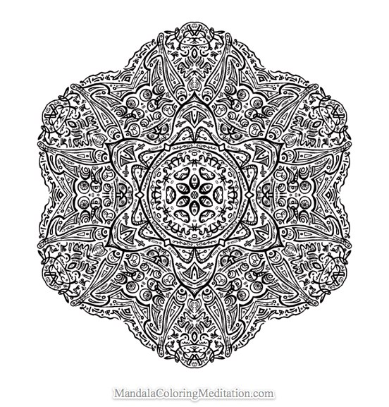 A new highly advanced mandala coloring page