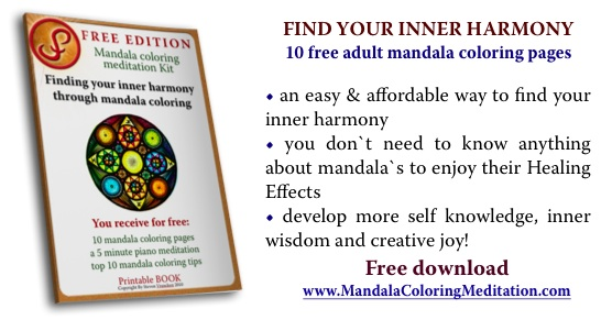 Your creative path to self healing: adult mandala coloring pages and meditation music