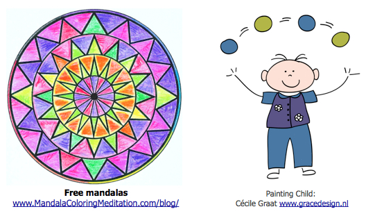 children mandala coloring page for child with cancer