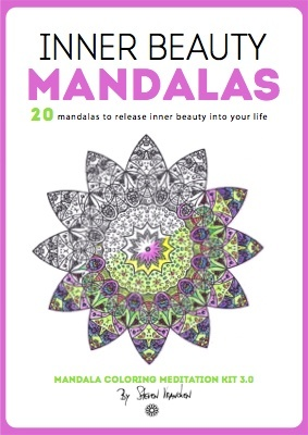 the cover of the inner beauty adult mandalas to color