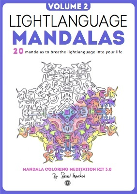 this is the cover for the eBook Lightlanguage mandalas to color