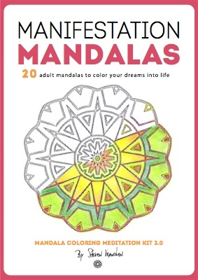 this is the ebook mandala cover for the manifestation mandalas to color