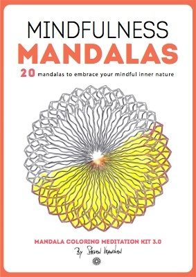 this is the ebook cover for 20 mindfulnes mandalas