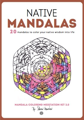 the book cover for 20 native adult mandalas to color
