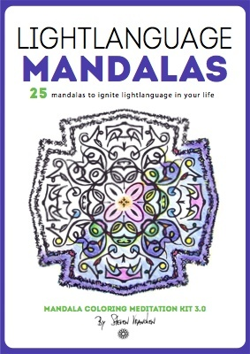 the ebook cover for 25 lighlanguage adult mandalas to color