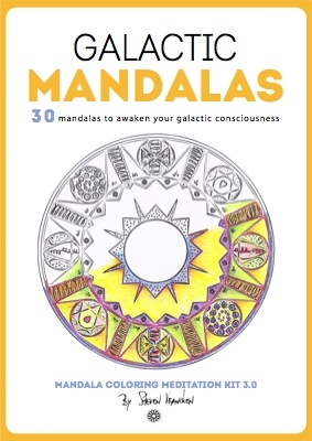 the adult mandala ebook cover for 30 galactic mandala designs