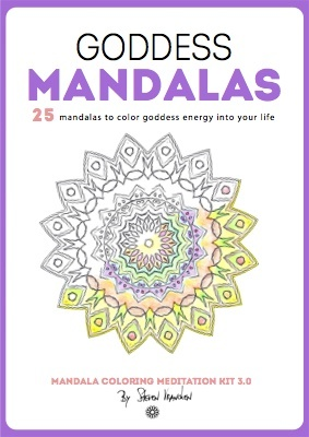 the ebook cover for 25 goddess mandala designs
