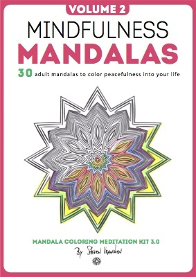 a star rainbow mandala design on the minfulness ebook cover