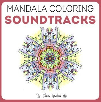 the CD cover for his mandala coloring soundtracks & music