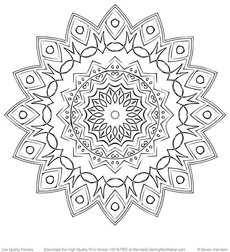 Free Print Out Coloring Page Adult New Mandala 18