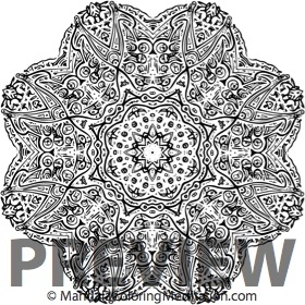 a square lightlanguage inspired adult mandala to color